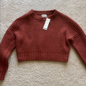 NWT Urban Outfitters rust cropped sweater size xs